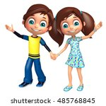 3d rendered illustration of kid ... | Shutterstock . vector #485768845