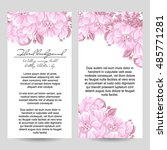 romantic invitation. wedding ... | Shutterstock . vector #485771281