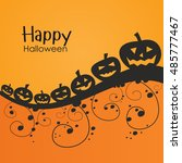 halloween pumpkins  background... | Shutterstock .eps vector #485777467