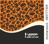 halloween pumpkins  background... | Shutterstock .eps vector #485777509