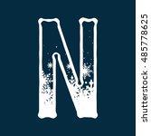 snow alphabets | Shutterstock .eps vector #485778625