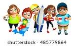3d rendered illustration of kid ... | Shutterstock . vector #485779864