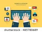 business flat illustration | Shutterstock .eps vector #485780689