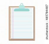 clipboard with a lined sheet  .... | Shutterstock .eps vector #485784487