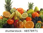 fruit mix of exotic and... | Shutterstock . vector #48578971