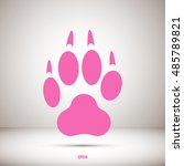 paw print icon | Shutterstock .eps vector #485789821