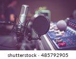 professional condenser studio... | Shutterstock . vector #485792905