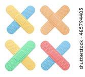 aid band plaster strip medical... | Shutterstock .eps vector #485794405