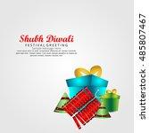vector illustration of diwali...   Shutterstock .eps vector #485807467