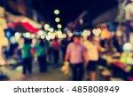 vintage tone blur image of... | Shutterstock . vector #485808949