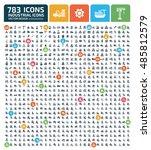 industry icon set vector | Shutterstock .eps vector #485812579