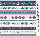 ethnic seamless pattern vector. ... | Shutterstock .eps vector #485815375