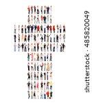 workforce concept standing...   Shutterstock . vector #485820049