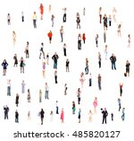 office culture people diversity  | Shutterstock . vector #485820127