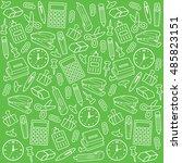 office supplies seamless... | Shutterstock .eps vector #485823151