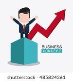 businessman cartoon and... | Shutterstock .eps vector #485824261