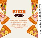 pizza pie and fast food design   Shutterstock .eps vector #485825377