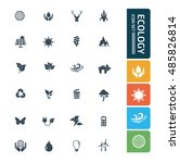 ecology and nature icon set.... | Shutterstock .eps vector #485826814