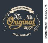 grunge t shirt graphic design ... | Shutterstock .eps vector #485827975