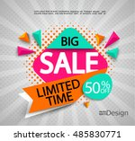 big sale   limited time  ... | Shutterstock .eps vector #485830771