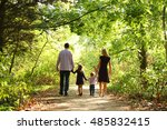 happy young family on the nature | Shutterstock . vector #485832415