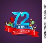 72 years anniversary... | Shutterstock .eps vector #485832709