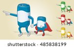 father and super son can | Shutterstock .eps vector #485838199