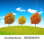 autumn landscape with colorful... | Shutterstock . vector #485838394