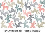vector seamless pattern with... | Shutterstock .eps vector #485840089