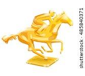 golden trophy. horse racing....   Shutterstock .eps vector #485840371