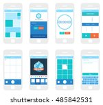mobile app ui kit. gallery...