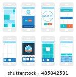 mobile app ui kit. gallery...