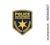 police badge | Shutterstock .eps vector #485860807