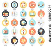 flat conceptual icons pack of...   Shutterstock .eps vector #485890279