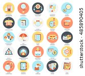 flat conceptual icons pack of... | Shutterstock .eps vector #485890405