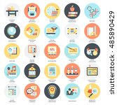 flat conceptual icons pack of... | Shutterstock .eps vector #485890429