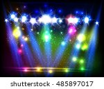 party  stage  disco  light ...   Shutterstock .eps vector #485897017