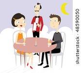 dinner | Shutterstock .eps vector #48590050