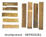old wood plank  isolated on... | Shutterstock . vector #485903281