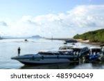 blur background sea bright blue ... | Shutterstock . vector #485904049