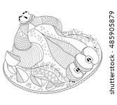 Roast Chicken Coloring Page...