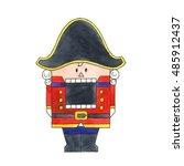nutcracker. watercolor... | Shutterstock . vector #485912437