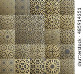 Islamic pattern . Seamless arabic geometric pattern, east ornament, indian ornament, persian motif, 3D. Endless texture can be used for wallpaper, pattern fills, web page background . | Shutterstock vector #485914351