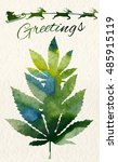 christmas greeting card with...   Shutterstock .eps vector #485915119