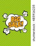 big sale vector design with... | Shutterstock .eps vector #485916235