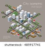transportation city streets... | Shutterstock .eps vector #485917741