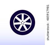 wheel icon  vector best flat... | Shutterstock .eps vector #485917981
