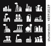 industry manufactory buildings... | Shutterstock .eps vector #485918119