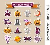 halloween icon set | Shutterstock .eps vector #485922571