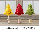 handmade christmas decoration... | Shutterstock . vector #485923849